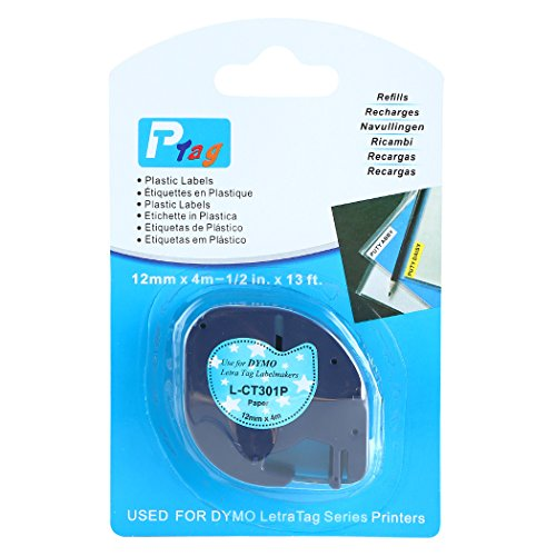 TIANSE 2 Pack Black Print on Blue Sky Compatible for DYMO LetraTag printers, LetraTag, LetraTag Plus LT100H, LetraTag Plus LT100T, LetraTag QX50 Photo #6