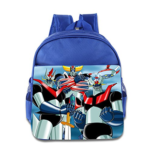 Price comparison product image Kids Mazinger Z School Backpack Cool Baby Boys Girls School Bags RoyalBlue