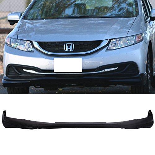 Front Bumper Lip Fits 2013-2015 Honda Civic | Ikon Style Black PU Front Lip Finisher Under Chin Spoiler Add On by IKON MOTORSPORTS | 2014