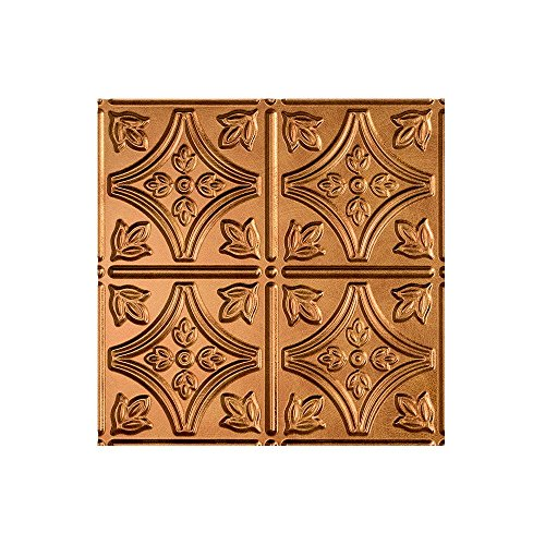 Fasade - Traditional Style/Pattern #1 Antique Bronze Lay In Ceiling Tile/Ceiling Panel - Fast and Easy Installation (12