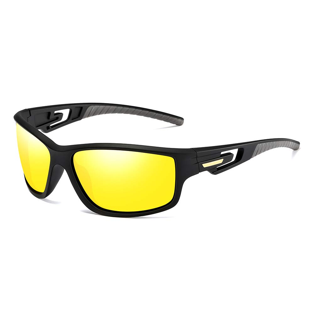 LR Night Driving Glasses Anti Glare-HD Polarized Yellow UV Protection Sunglasses for Men Women Safety Glasses by LR LORETO ROSA