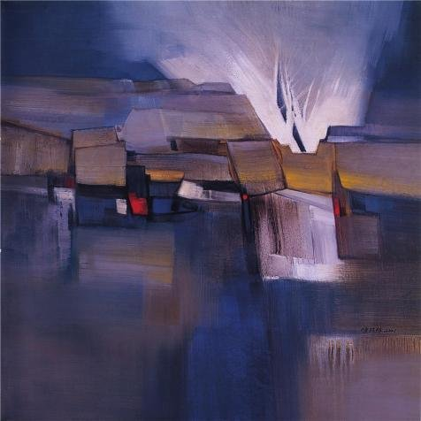 The High Quality Polyster Canvas Of Oil Painting 'Abstract Landscape Of The Village' ,size: 20x25 Inch / 51x64 Cm ,this Vivid Art Decorative Prints On Canvas Is Fit For Nursery Decor And Home Artwork And Gifts