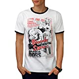 Diana Dors Blonde Bombshell Spy Men S-2XL Ringer T-shirt | Wellcoda