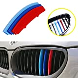 iJDMTOY Exact Fit ///M-Colored Grille Insert Trims For 2004-2010 BMW E60 5 Series 525i 528i 530i 535i 540i 545i 550i M5 Front Center Kidney Grilles (11 Beams)
