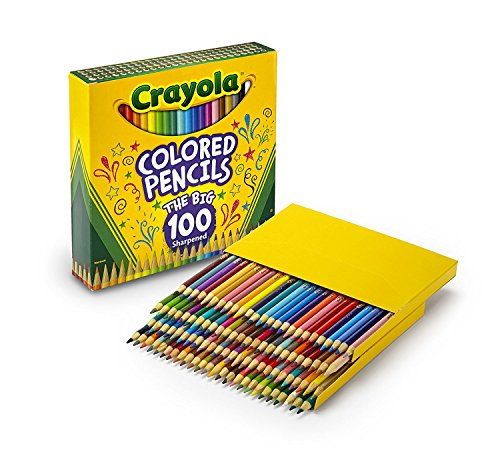 Crayola Different Colored Pencils, 100 Count, Adult -