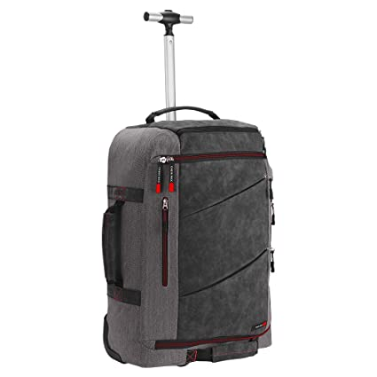 78fff0c35 Cabin Max Manhattan Hybrid Trolley Backpack Flight Approved Cabin Bags 55 x  40 x 20 44L (Grey/Red): Amazon.co.uk: Luggage