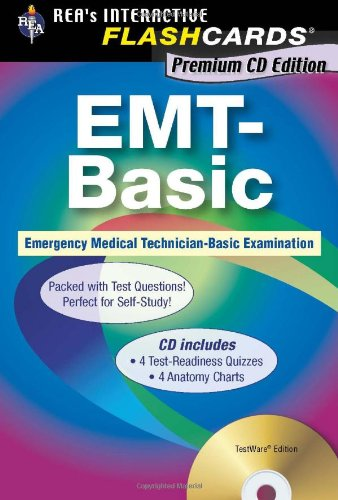 EMT-Basic - Interactive Flashcards Book for EMT (REA), Premium Edition incl. CD-ROM