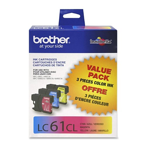 Brother DCP-585CW 3-Color Ink Combo Pack (OEM) Dcp 585cw Colour