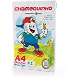 Papel Sulfite A4 Chamequinho 210 x 297mm 75g/m2 Pacote 100 Folhas Chamex Branco