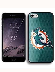 Girl Cover Case Cover For Ipod Touch 5 Case with Miami Dolphins NFL Symbols