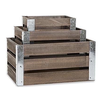 Amazoncom The Lucky Clover Trading Three Slat Wood Metal Corner