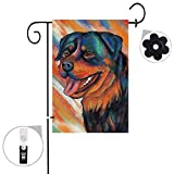 Pinata Rottweiler Dog Garden Flag Sets,Double Sided and Burlap Animal Flags with a Rubber Stopper Stop and a Anti-Wind Clip,12'x18'