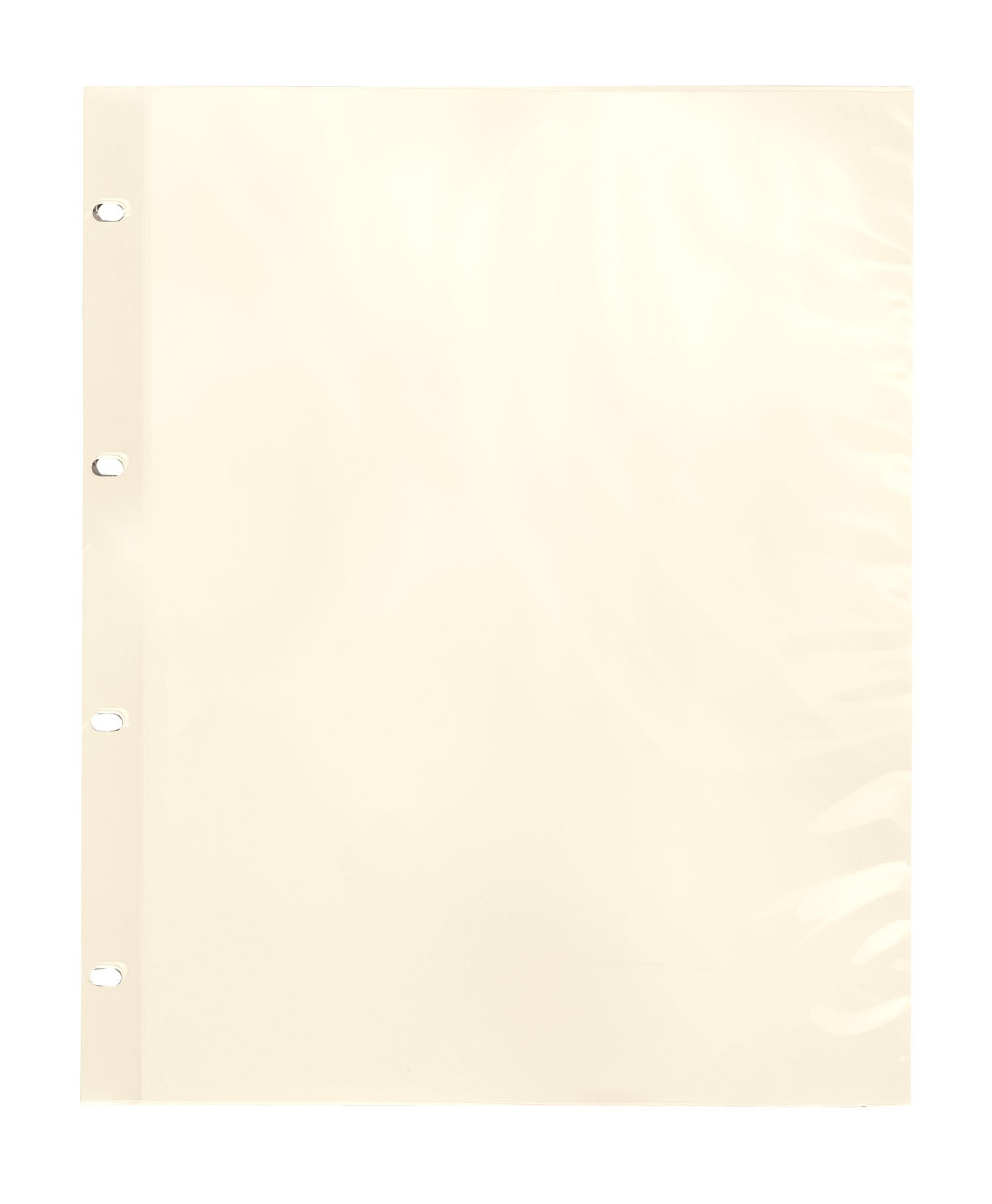 Fox Valley Traders Oversize Album Pages Sheet Protectors Ivory