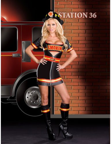 Hot Firefighters Costumes (Smokin' Firefighter Adult Costume - X-Large)