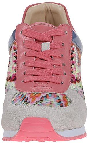 Negen West-dames Telly Suede Fashion Sneaker Witte Houndstooth