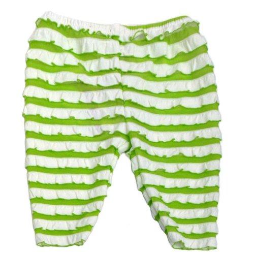 Wrapables Kids Ruffle Capri Green 4 Year