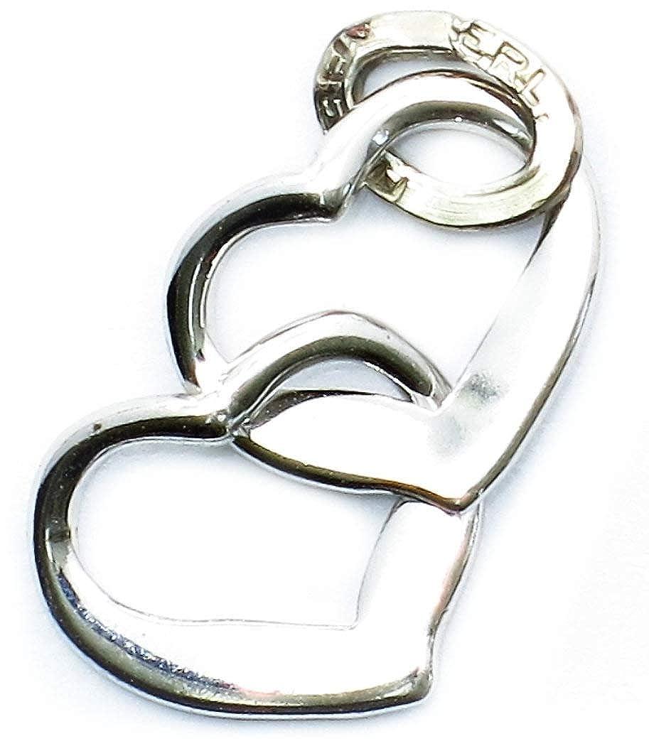 Beaucraft Sterling Silver Interlocking Hearts Charm