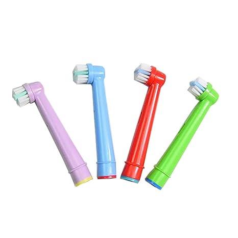 4 (1 x 4) cabezales de repuesto para cepillo de dientes eléctrico para niños