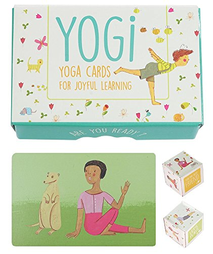 (YOGI FUN Kids Yoga Cards Kit with Illustrations, Rhyming Poems, Birthday Activity and 2 DIY Dice)