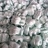 PacificMailer Green Polystyrene Loose Fill Packing Shipping Peanut [12 Cu Ft./ 90 Gal, ''W'' Shape, Recyclable]