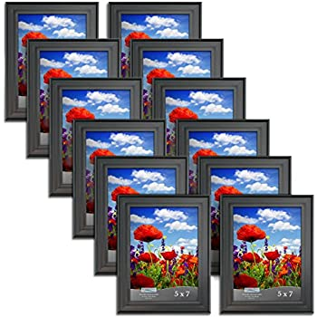 Amazon.com - MCS 5x7 Inch Format Frame 12-Pack, Black (65472 ...