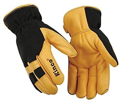 "Kinco 101HK-L-1 Lined Deerskin Glove, 10.25"" Height, 1"" Length, 5.5"" Width"