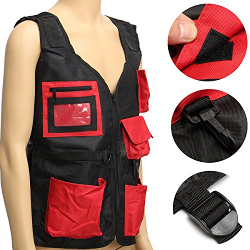 Tool Organizers Electrician Carpenter Plumber Craftman Construction Pouch Bag Tool Vest by Yoton (Image #4)