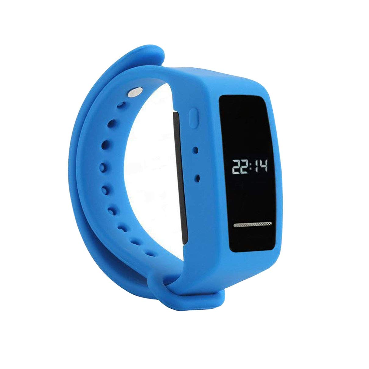 8GB Digital Voice Recorder Wristband Audio Recorder Wrist Watch USB Rechargeable Sound Recording Bracelet Dictaphone for Lecture Meeting Interview Classes & Playback by Built-in Specker(Blue)
