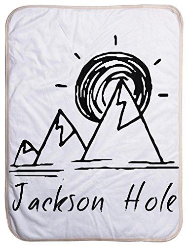 Jackson Hole, Wyoming Mountain and Sunset - Wyoming Sherpa Baby Blanket (40