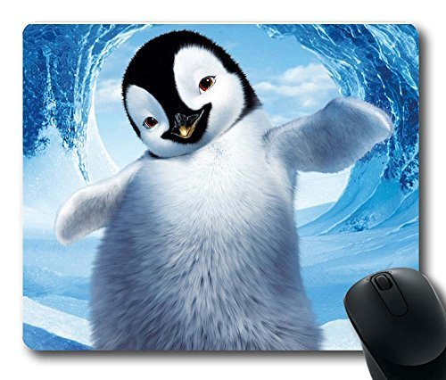 Gaming Mouse Pad, Customized MousePads Happy Feet Penguins Natural Non-Slip Eco Rubber Durable Design Computer Desk Stationery Accessories Gifts For Mouse Pads