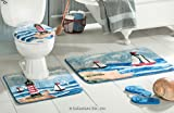 Lighthouse Toilet Seat Cover & Bath Rug Set