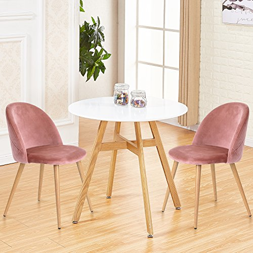 """Apartment Size Furniture Round Dining Room Tables White: GreenForest Round Dining Table With 32"""" White Wooden Table"""