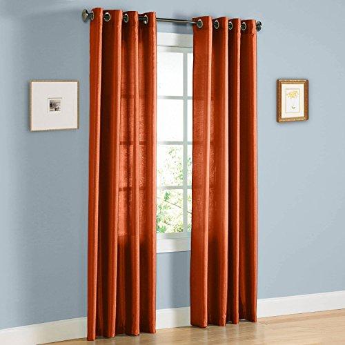 Neon Orange Curtains (Gorgeous Home 1PC ORANGE 55 WIDE X 63