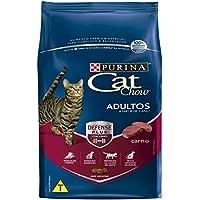 Ração Nestlé Purina Cat Chow para Gatos Adultos sabor Carne - 10,1kg Purina para Todas Todos os tamanhos de raça Adulto - Sabor Carne