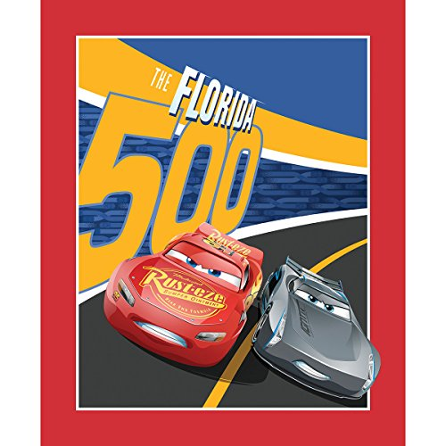 Disney Cars Cotton Fabric - Disney Fabric Cars 3 Fabric by The Panel