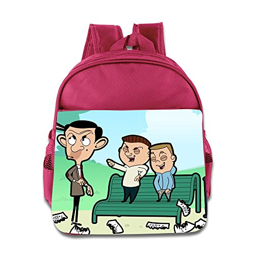 Toddler Kids Mr. Bean The Animated Series School Backpack Cartoon Children School Bag Pink (The Amazing Spider Man 2 Suit For Kids)
