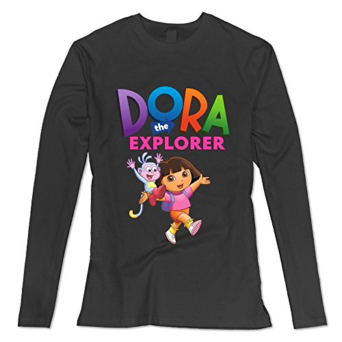[Seico Women Dora The Explorer Boots T Shirts Black Size XL] (Swiper Costumes For Adults)