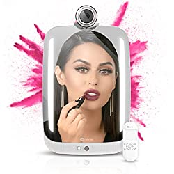 HiMirror Plus - 2nd generation beauty smart mirror with LED makeup lights, your beauty consultant skin analyzer, innovative makeup mirror