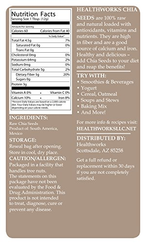 Healthworks Chia Seeds Raw Pesticide-Free, 6lb