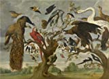 'Jan Van Kessel I - The Mockery Of The Owl, 17th Century' Oil Painting, 30x41 Inch / 76x105 Cm ,printed On High Quality Polyster Canvas ,this Best Price Art Decorative Prints On Canvas Is Perfectly Suitalbe For Laundry Room Gallery Art And Home Artwork And Gifts