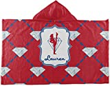 RNK Shops Red Diamond Dancers Kids Hooded Towel (Personalized)