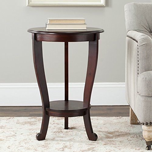 Safavieh American Home Collection Pedestal End Table, Dark Cherry