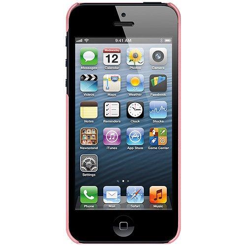 Amzer Coque à clipser pour iPhone 5 Motif à croisillons avec brillants (Rose pâle)