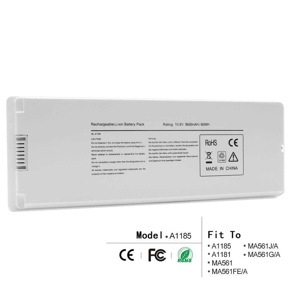 LQM Battery for Apple MacBook 13 A1185 A1181 MA561 MA561FE/A MA561G/A MA561J/A (A1185)
