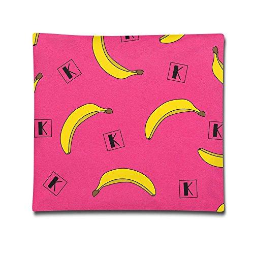 Hammock Bolster (Kjaoi 1818 Inches Pillow Case Banana Wallpaper Comfortable Soft Bed Pillow Case Household Pillow Case Office Bolster)