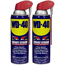 WD-40 Lubricant, Smart Straw Can, 12 oz-2 pk