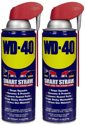 WD-40 Lubricant, Smart Straw Can, 12 oz-2 pk ()