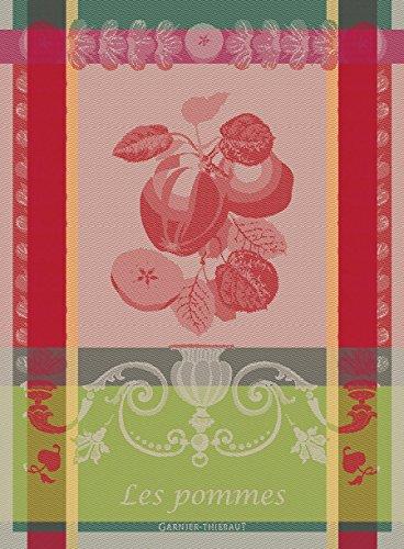 Apple Kitchen Tea Towel - Garnier-Thiebaut, Les Pommes (Apples), Gala, Woven French Kitchen/Tea Towel, 100 Percent Cotton