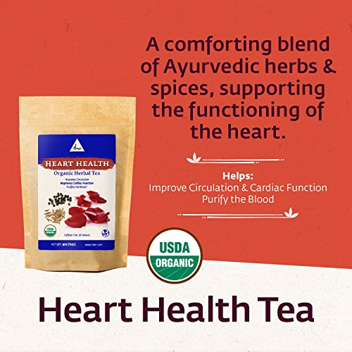 Isha Organic Herbal Heart Health Tea, Natural and Soothing Cardiovascular Support, Metabolism and Immunity Booster, Ayurvedic Recipe of Rose Petal, Cumin and Black Pepper in 4 Ounce Re-sealable Pouch