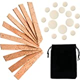 SATINIOR 27 Pieces Clarinet Instrument Accessories Replacement Kits with 10 Pieces Clarinet Neck Joint Cork and 17 Pieces Clarinet Pads Bb Clarinet Woodwind Instrument Pads